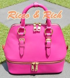 กระเป๋าหนังแท้ Bello - Magenta