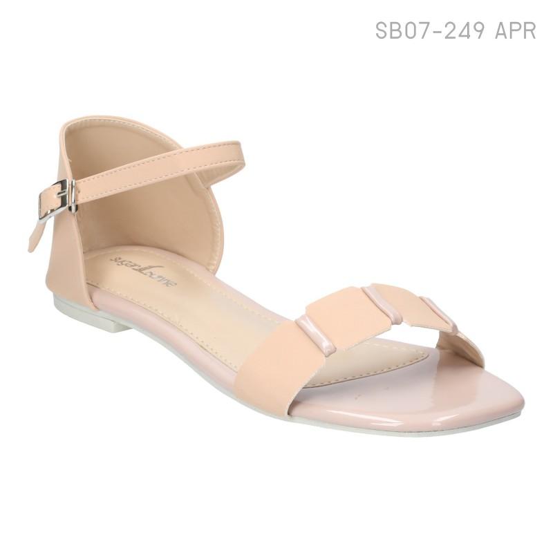 ลดล้างสต๊อก รองเท้าส้นแบน SB07-249-APR [สีแอปริคอท]