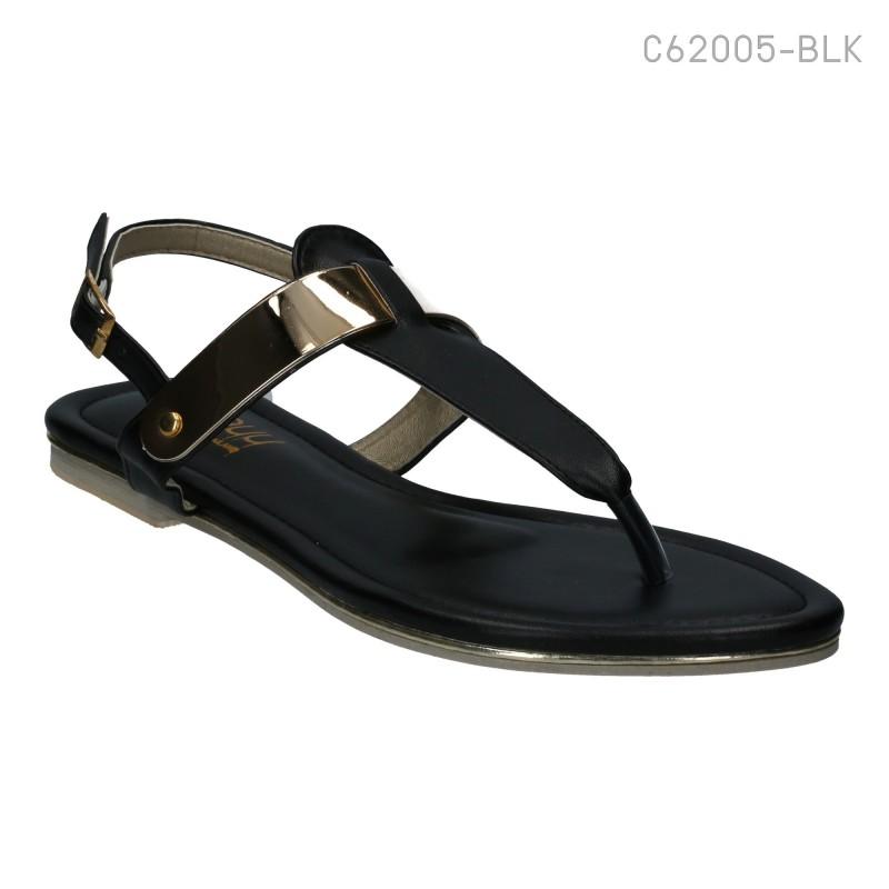 ลดล้างสต๊อก รองเท้าส้นเตี้ย C62005-BLK [สีดำ]