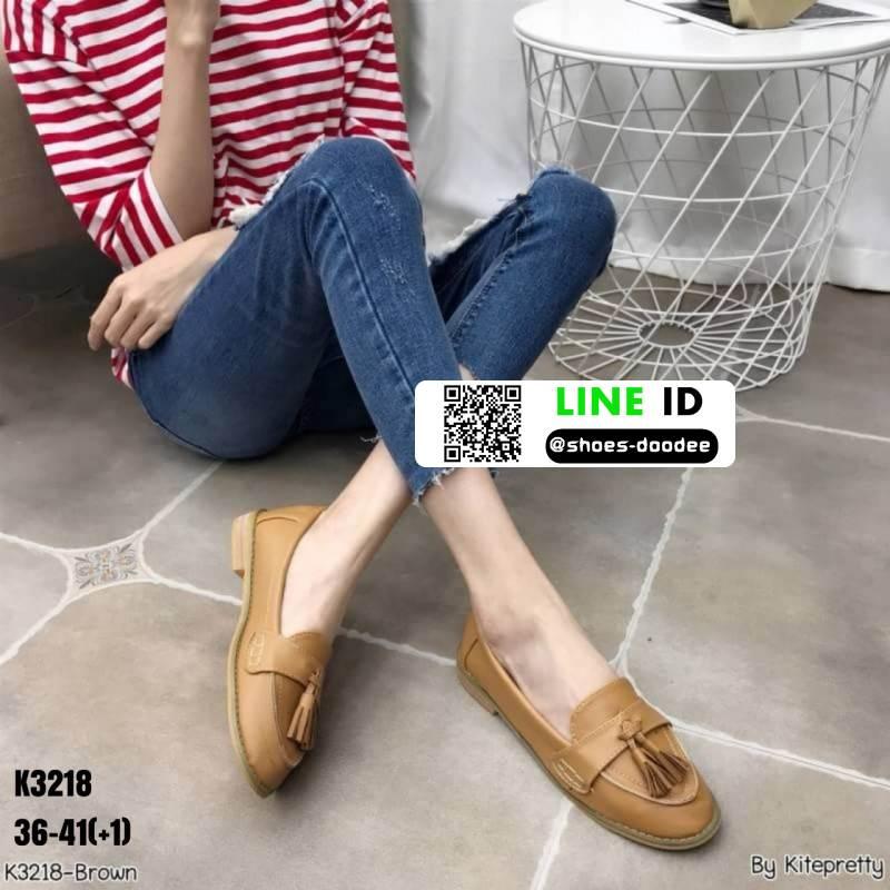 รองเท้าคัชชูสุขภาพ หนังวัวแท้100% K3218-BRN [สีน้ำตาล]