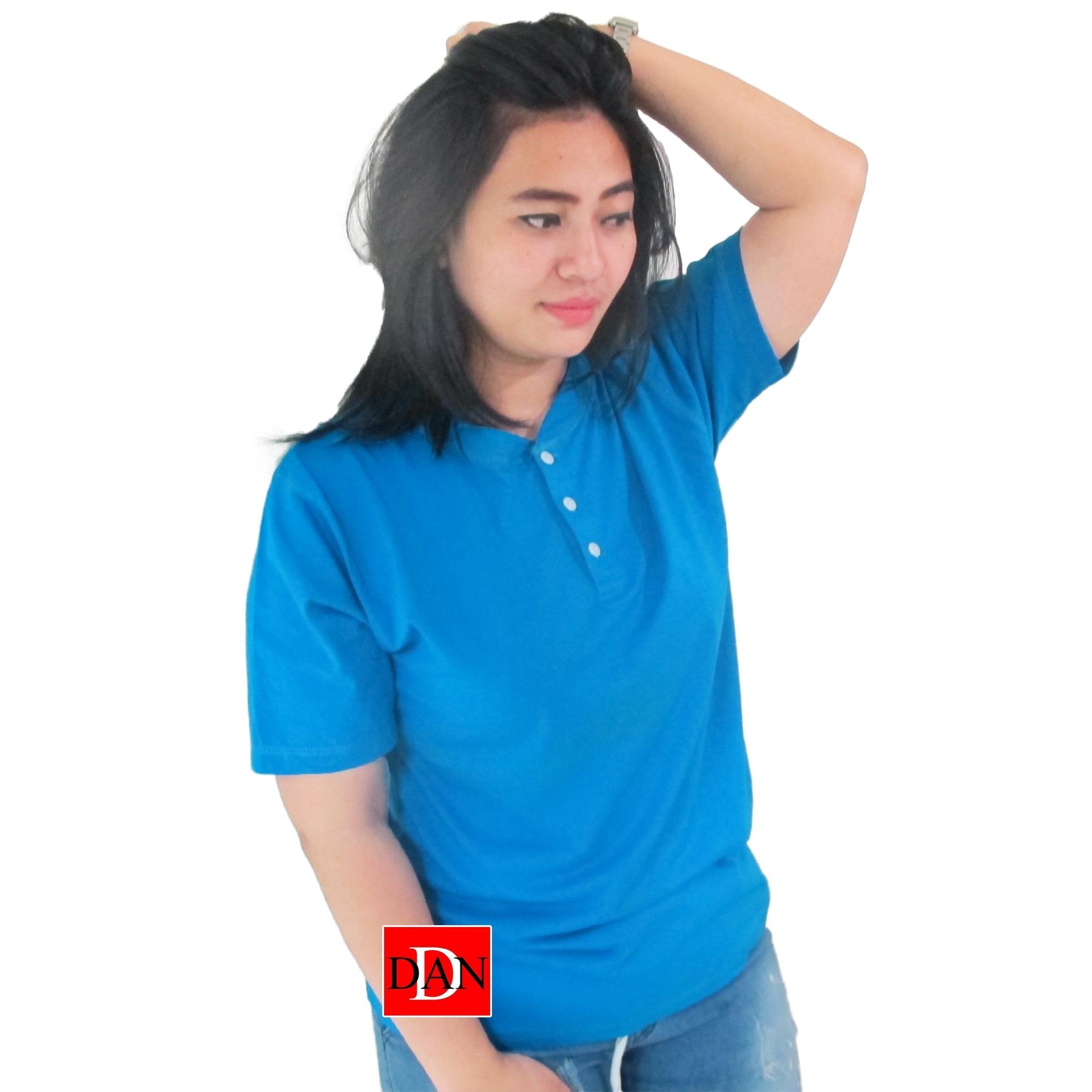 เสื้อยืดคอจีน Cotton100% XL สีเขียวเป็ด