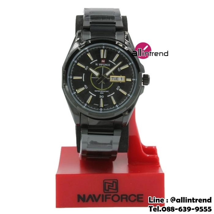 นาฬิกา Naviforce รุ่น NF9034M สีทอง/ดำ ของแท้ รับประกันศูนย์ 1 ปี ส่งพร้อมกล่อง และใบรับประกันศูนย์ ราคาถูกที่สุด