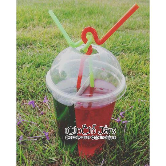 แก้ว 2 ช่อง พร้อมฝาโดม (10 ใบ)