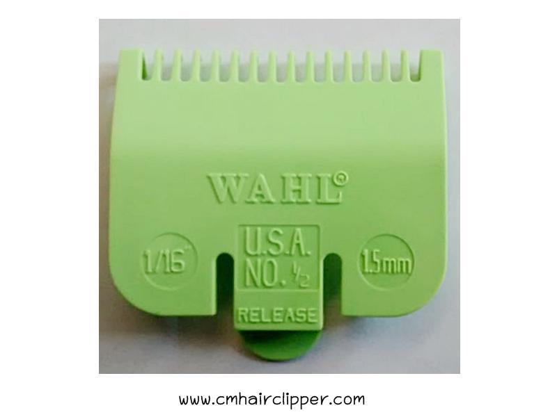 รองหวี WAHL เบอร์ 0.5 (ยาว 1.5 mm สีเขียว)