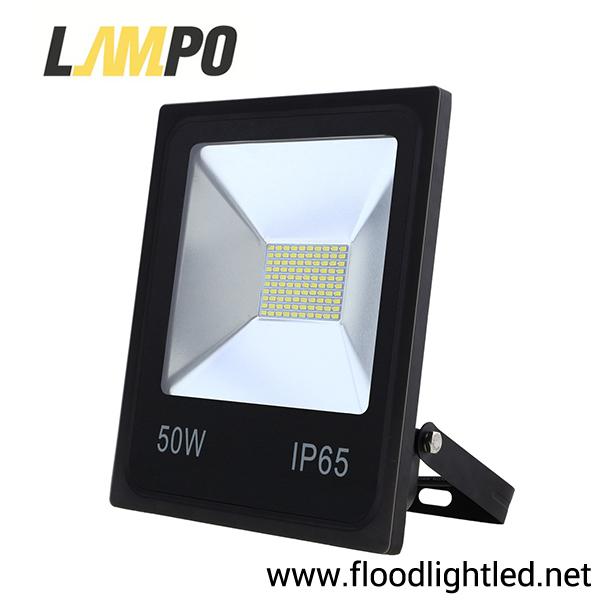 สปอร์ตไลท์ LED 50w รุ่นFIT ยี่ห้อLAMPO (แสงส้ม)