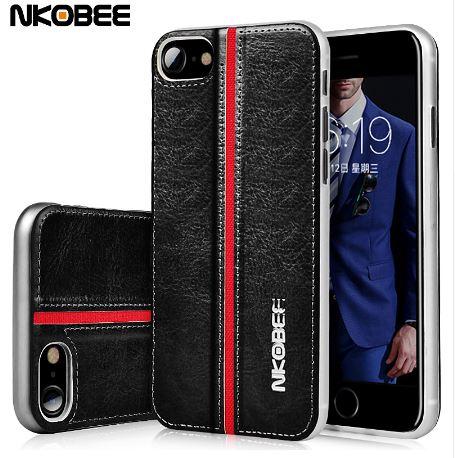 เคสไอโฟน7พลัส เคสหนังนิ่มแบรนด์ NKOBEE สไตล์ดั้งเดิม
