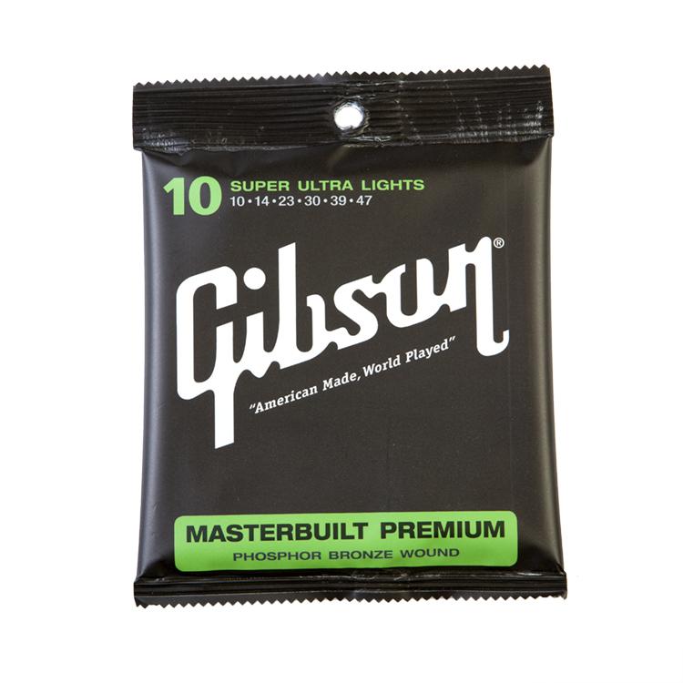 สายกีตาร์โปร่ง Gibson Masterbuilt Premium Super Ultra Light 010-047