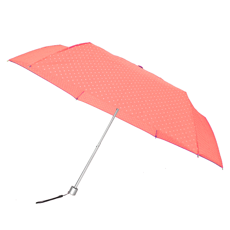 Waterfront Spot Air Folding Umbrella ร่มพับน้ำหนักเบาจุดๆ - ส้ม