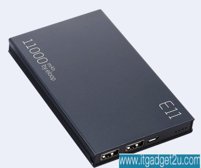 Power bank แบตสำรอง Eloop E11 11000 mAh สีดำ ของแท้ ลดเหลือ 599 บาท