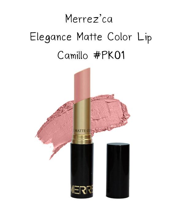 Merrez'Ca Elegance Matte Color Lip #PK01 Camillo