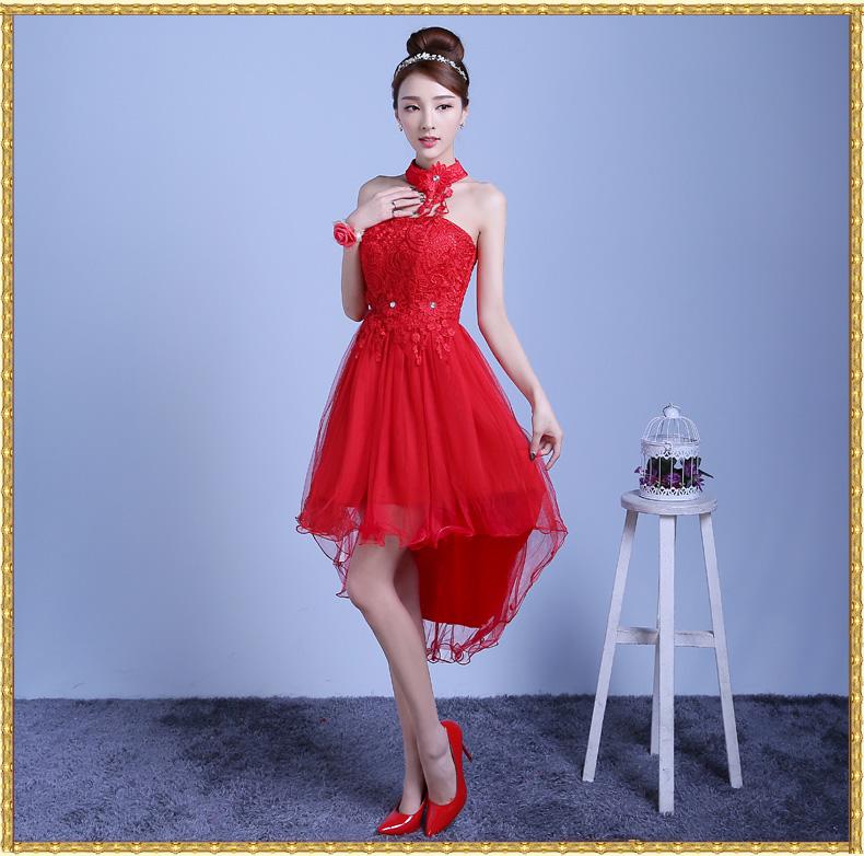 ชุดไปงานแต่งงานสีแดง