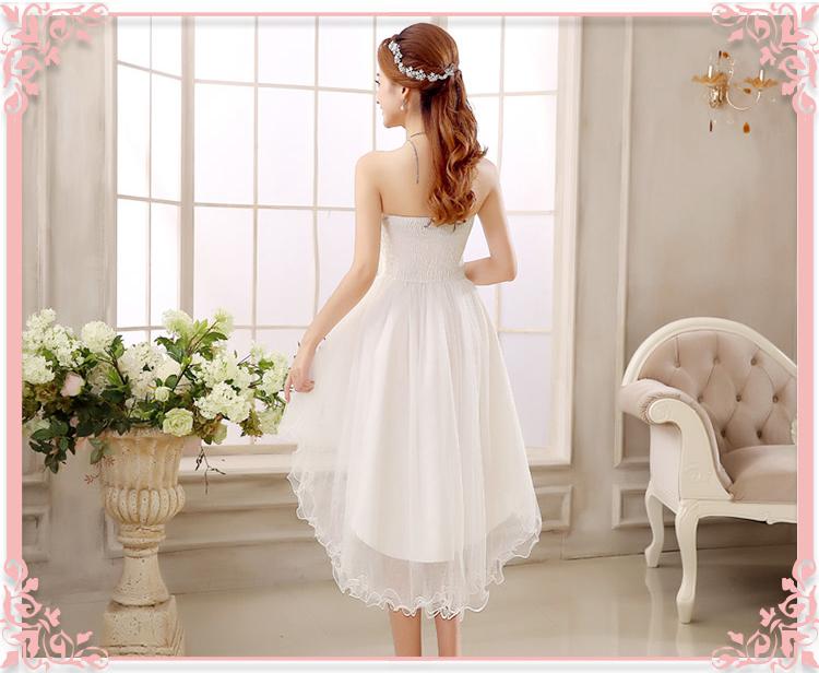 ชุดไปงานแต่งงานสีขาวราคาถูก