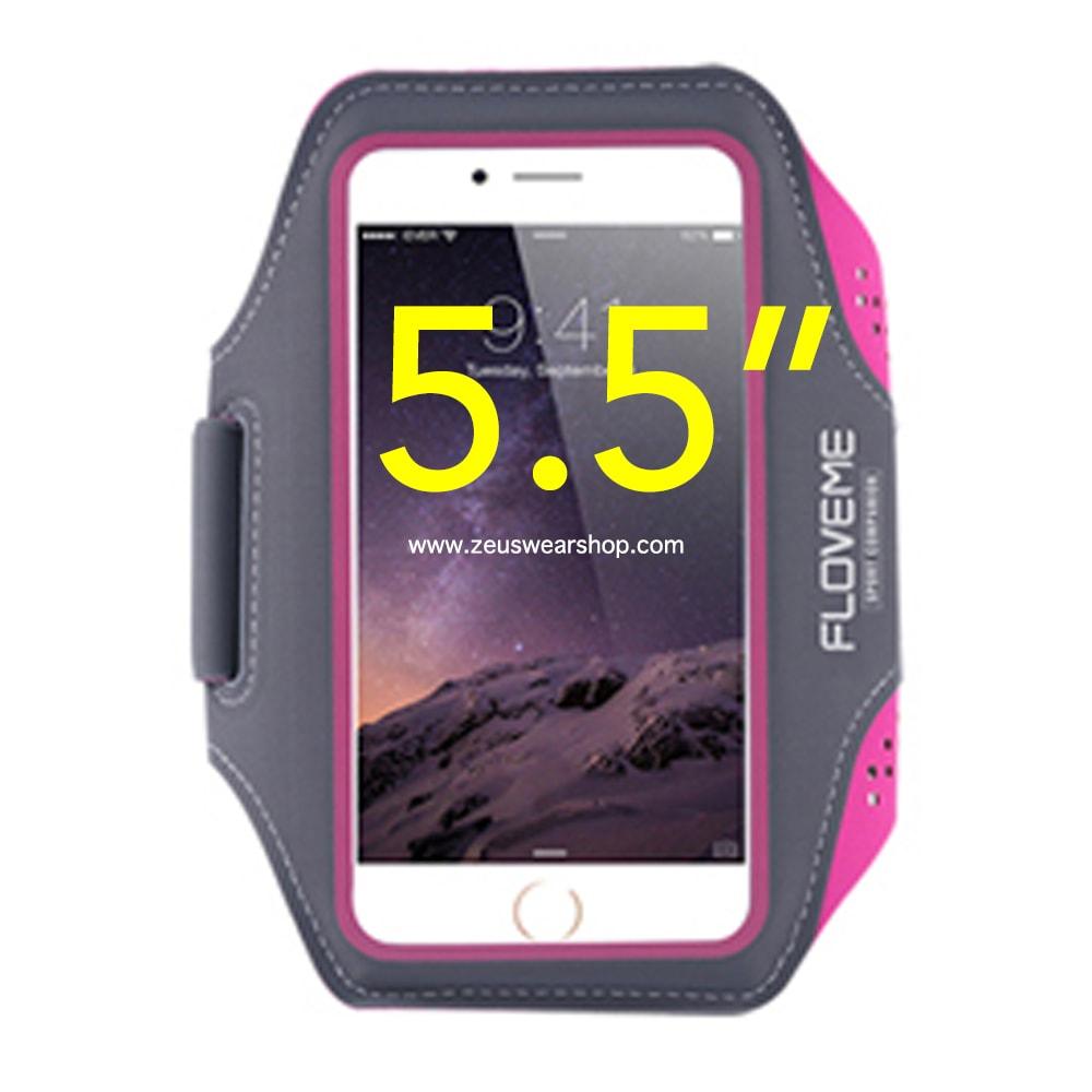 สายรัดแขนวิ่ง สีชมพู Armband ใส่โทรศัพท์หน้าจอ 5.5 นิ้ว