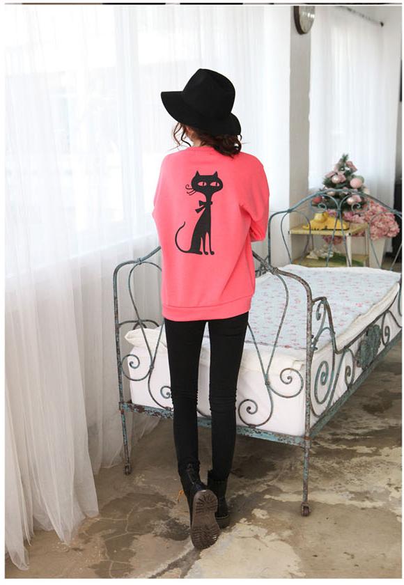 เสื้อกันหนาวแฟชั่นเกาหลีสีชมพูสวยๆ