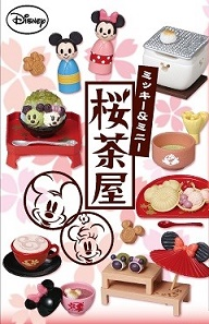 ReMent Disney Mickey & Minnie Sakura Chaya รีเมนท์ของจิ๋ว มิกกี้มินนี่ซากุระ 8 แบบ