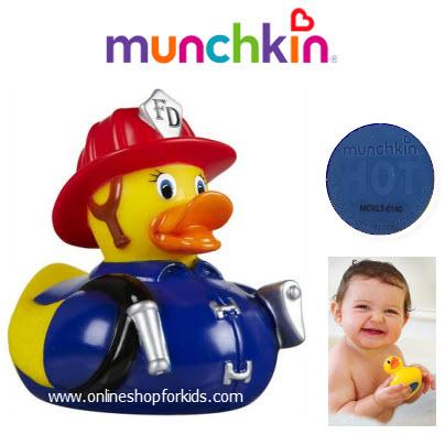 เป็ดวัดอุณหภูมิในน้ำ Munchkin White Hot Super Safety Bath Ducky, Fireman