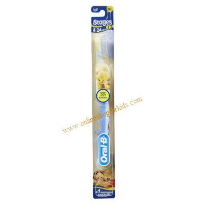แปรงสีฟันเด็ก อายุ 4เดือน+ Oral-B Stage1 Toothbrush - Disney Baby, Blue