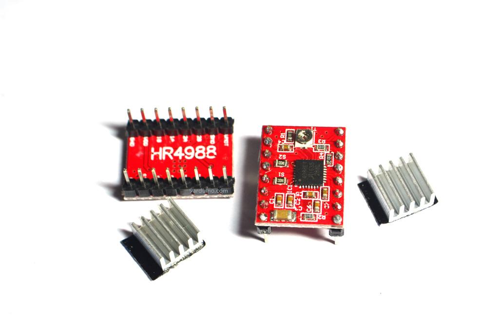H4988 Stepper Motor Driver Module (for 3D Printer) + Heatsink (ไดร์แดง)