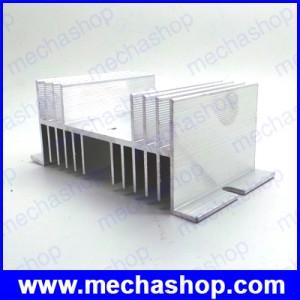 ฮีตซิงค์ระบายความร้อน อลูมิเนียมระบายความร้อน โซลิดสเตตรีเลย์ W shape Aluminum Single Phase Solid State Relay SSR Heat Sink Heat Dissipation from 10A-40A