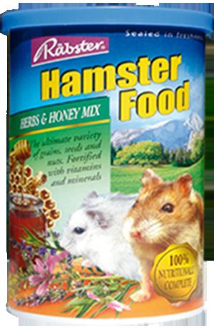 อาหารหนูแฮมสเตอร์ทุกพันธุ์ ยี่ห้อ Rabster สูตรผสมสมุนไพรและน้ำผึ้ง - ขนาด 500 กรัม