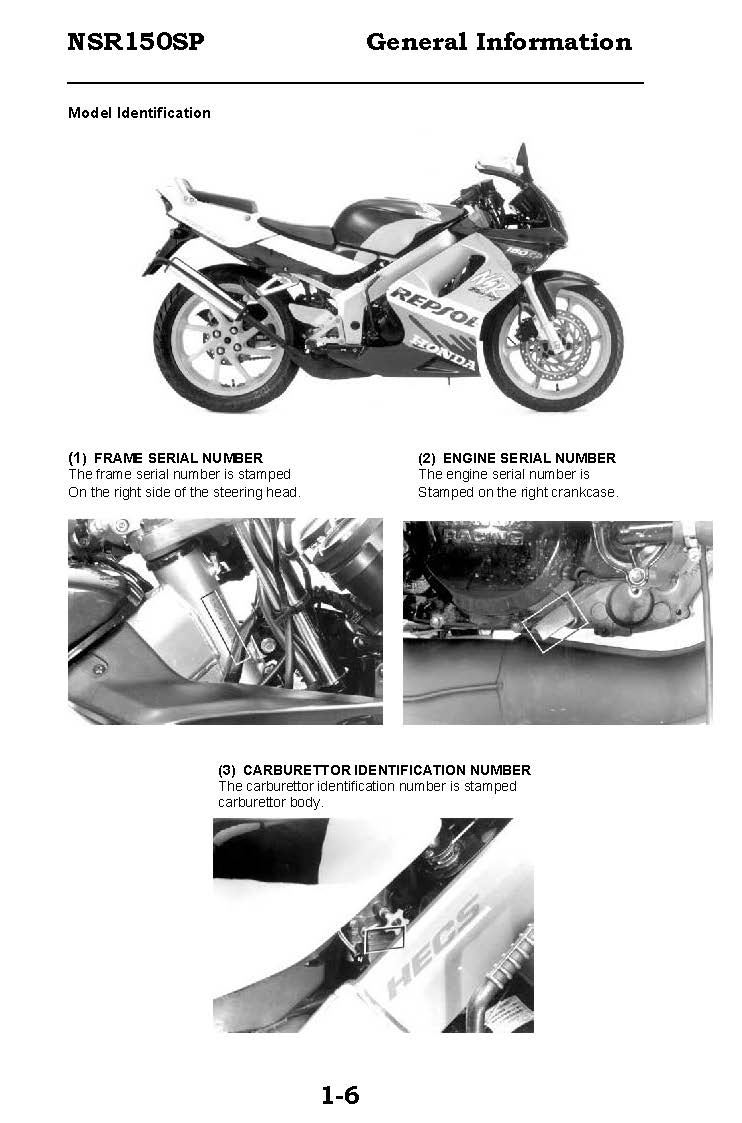 CD คู่มือซ่อม วงจรไฟฟ้า มอเตอร์ไซค์ Honda NSR150SP (EN)