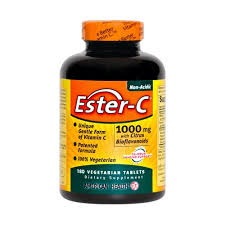 Ester C 1000 mg with Citrus Bioflavanoid 180 Tablets วิตามินซีที่ไม่ระคายเคืองกระเพาะจากอเมริกาค่ะ