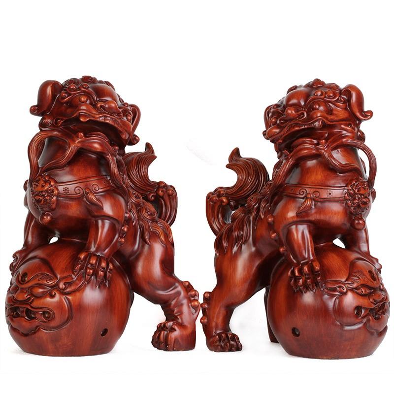 สิงโตมงคลคู่ปกปักษ์รักษาเสริมฮวงจุ้ย อุดมโชคลาภวาสนา ปกป้องภยันอันตราย