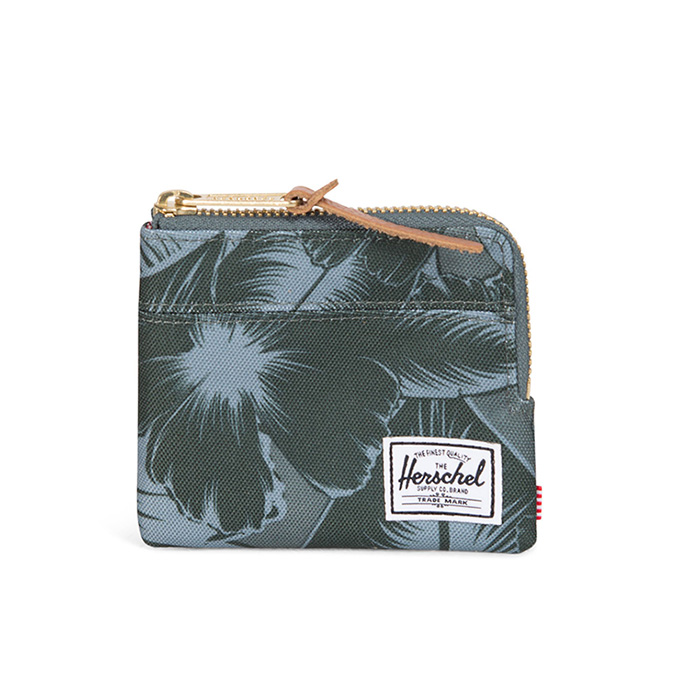 Herschel Johnny Wallet - Jungle Floral Green