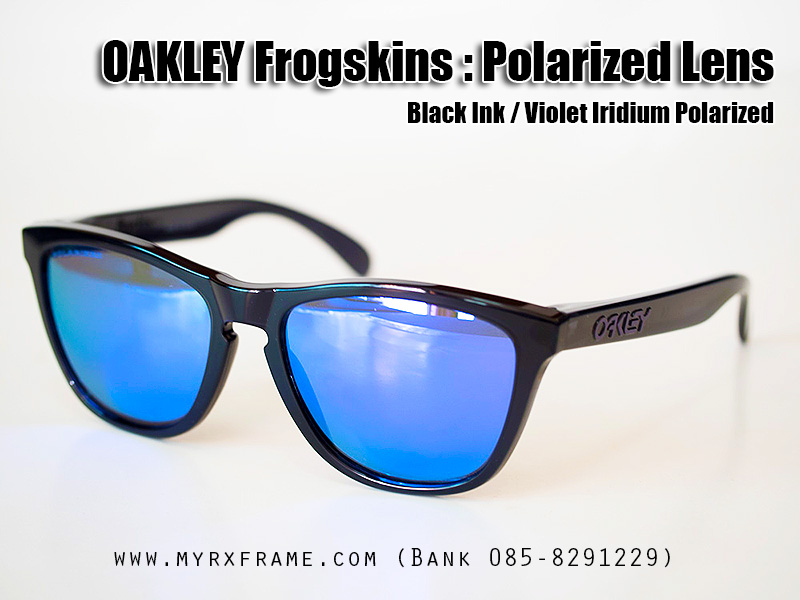 Oakley Frogskins : Polarized Collection - Black Ink / Violet Iridium Polarized Lens