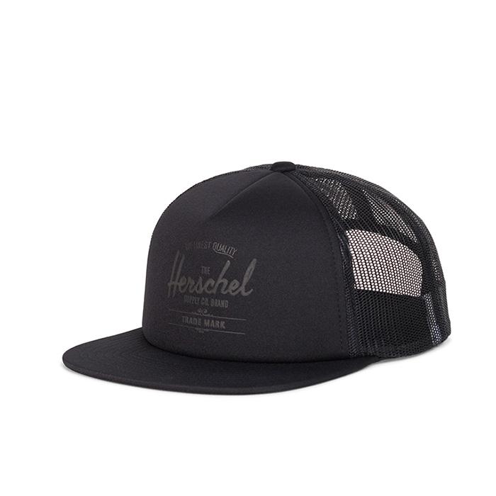 Herschel Whaler Cap | Mesh - Black / Black