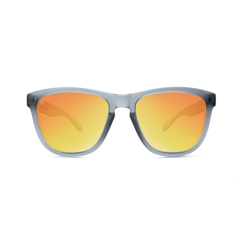 แว่น Knockaround Premiums Sunglasses - Frosted Grey / Red Sunset