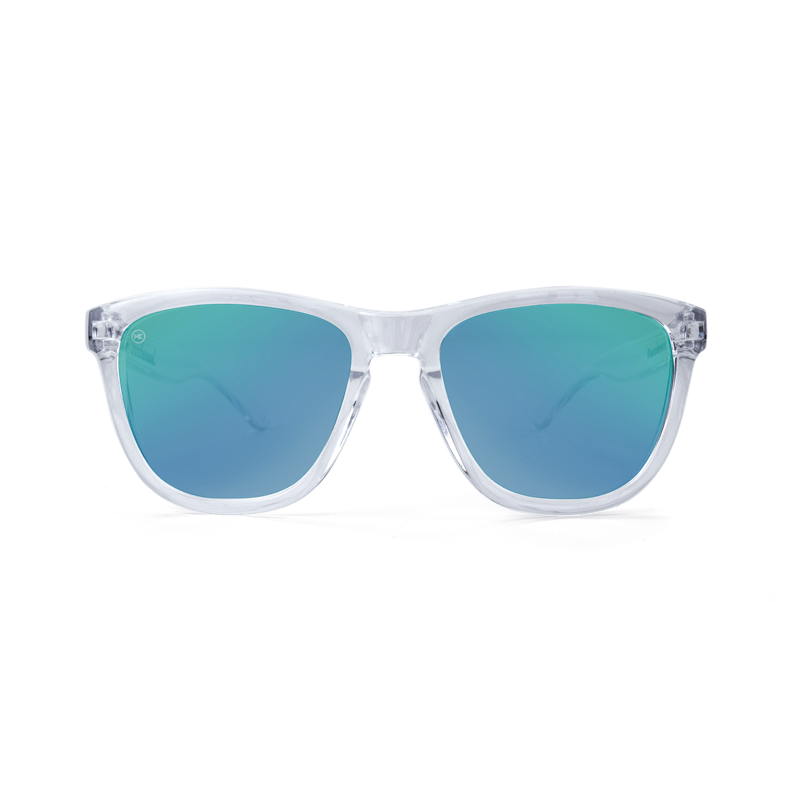 แว่น Knockaround Premiums Sunglasses - Clear / Green Moonshine