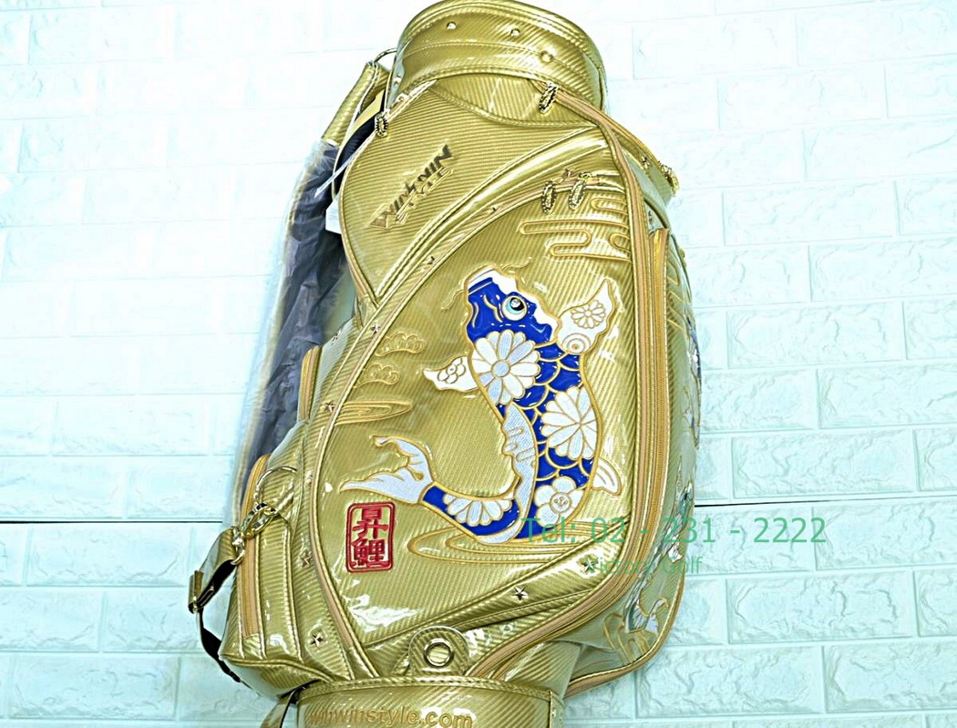 WINWIN STYLE caddie bag /TAKINOBORI cart bag GOLD Version 2017