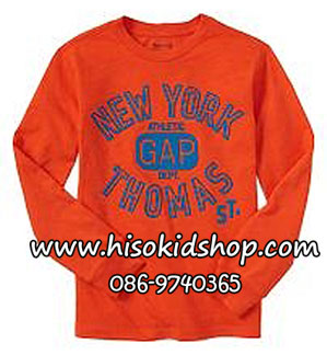Gap Kids Graphic Tee - Orange ขนาด 6-7 ปี