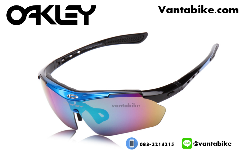 แว่นตาปั่นจักรยาน Oakley รุ่น A0089 [สีน้ำเงิน-ดำ]