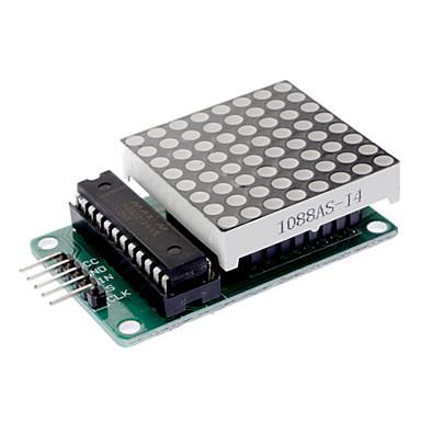 LED Matrix Driver MAX7219 IC Driver Module + LED Dot Matrix 8x8 ขนาด 40mm x 40mm