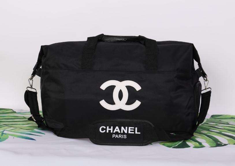 10ab489fe3e Chanel Authentic VIP Gift Bag Duffle Gym Travel โลโก้ขาว ...