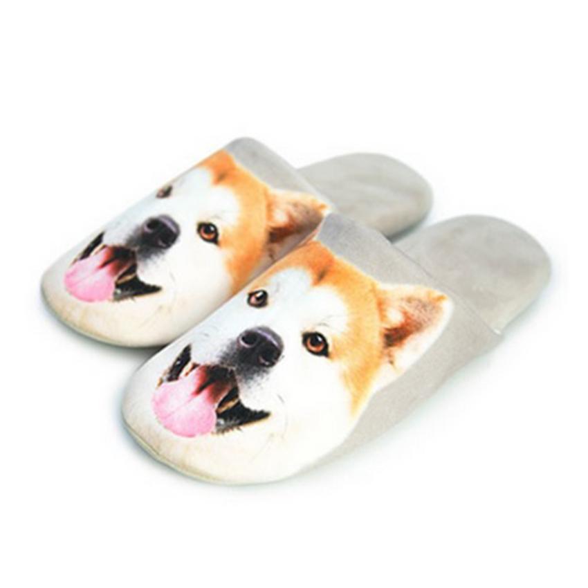 รองเท้าใส่เดินในบ้าน รูปน้องหมาน่ารัก (Winter Lovely Cartoon Animals Slippers)