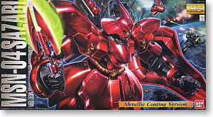 MG 1/100 SAZABI (METALLIC COATING VER.)
