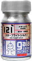 gaia 121 Star bright Silver (metallic) 15ml.