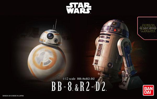 1/12 BB-8 & R2-D2 (Plastic model)