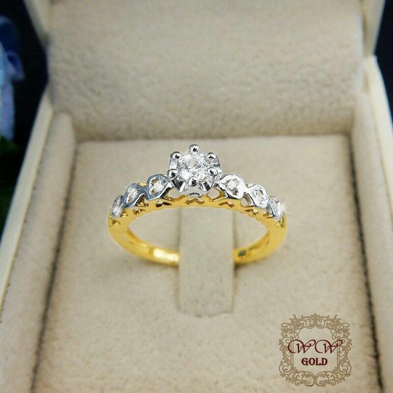 แหวนเพชรดีไซน์หัวใจ (ลายฉลุ)