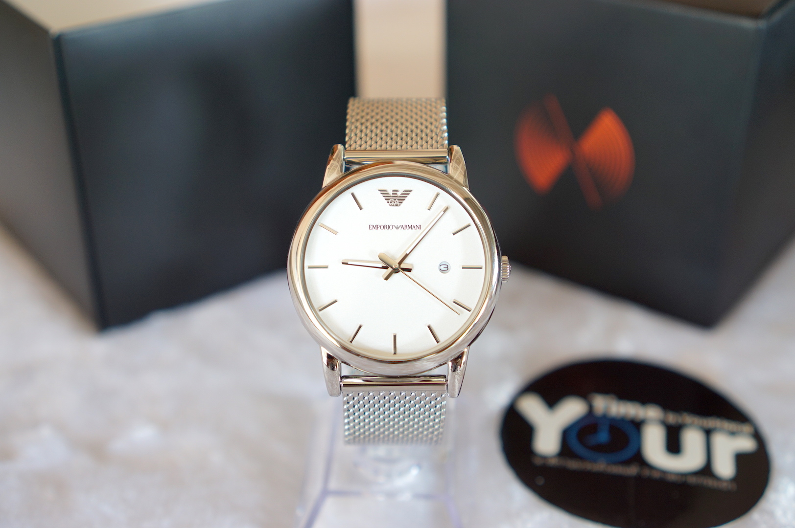 83691e6d057 Emporio Armani AR1812 (41mm) Classic White Dial Stainless Steel Men s Watch