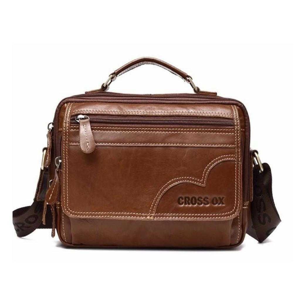 กระเป๋าสะพายข้าง ผู้ชาย กระเป๋าถือ กระเป๋าใส่ไอแพทและอุปกรณ์ต่างๆ ผลิตจากหนังวัวแท้ทั้งใบ
