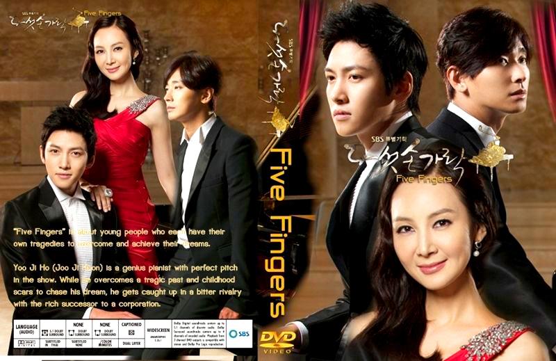 DVD ทำนองรัก ทำนองชีวิต (Five Fingers) 8 แผ่น พากย์ไทย Joo Ji Hoon , จีซางวูค