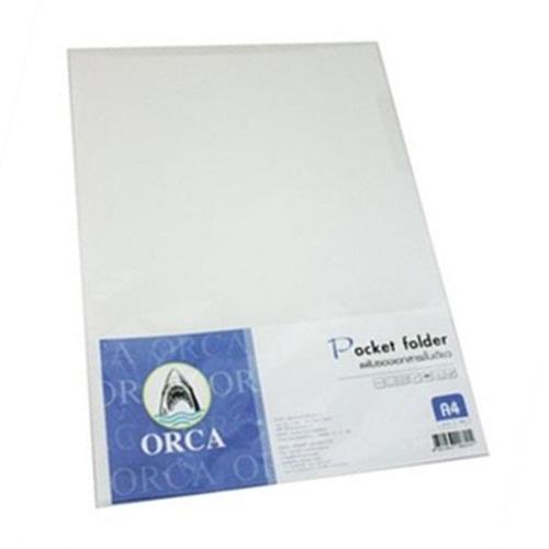 แฟ้มซองใส ORCA A4 สีขาว