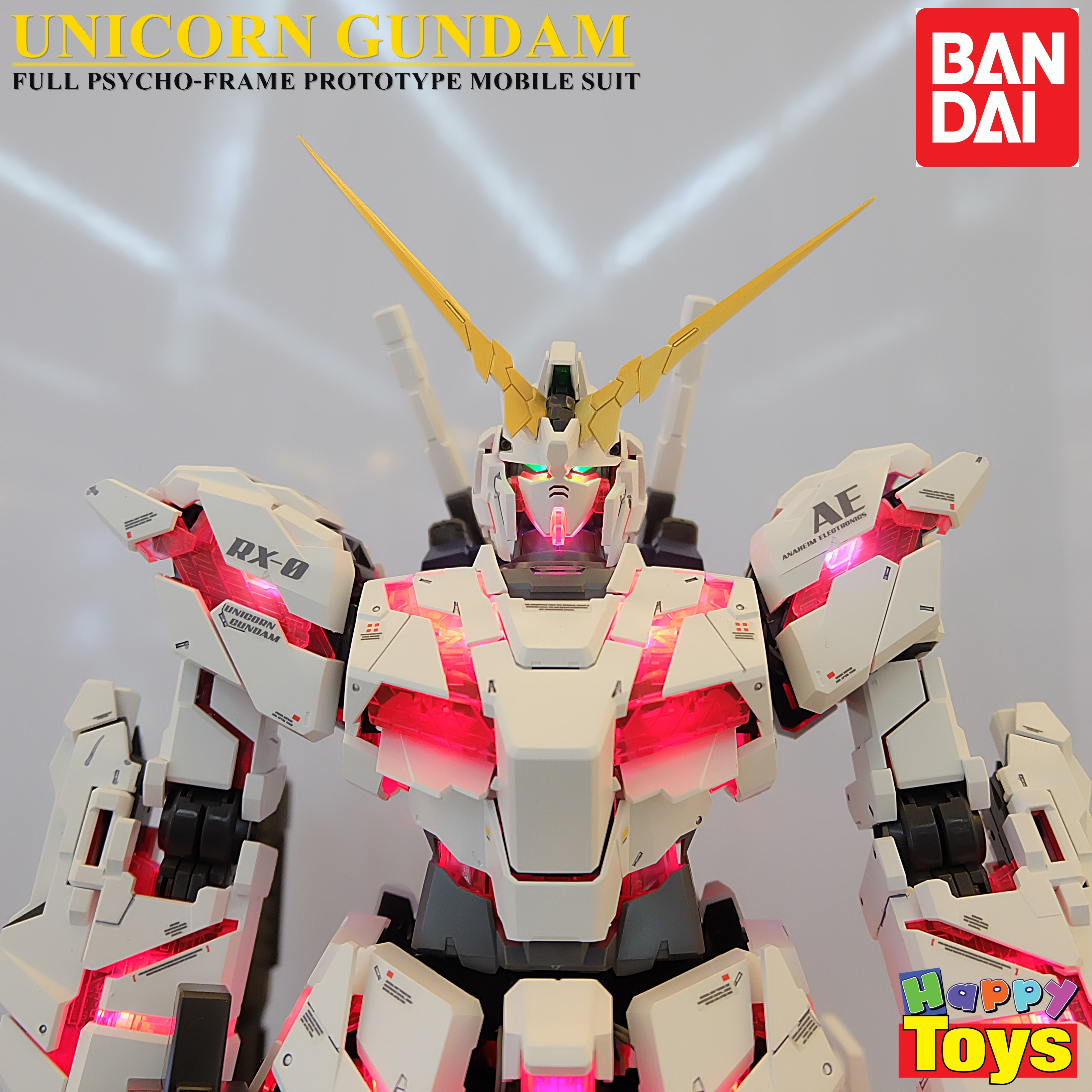 Unicorn gundam กันพลา โมเดล กันดั้ม PG ขนาด 1/60 RX-0 Gundam Unicorn ลิขสิทธ์แท้ Bandai Japan PG 1/60 RX-0 Gundam Unicorn