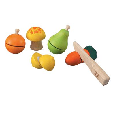 ของเล่นไม้ ของเล่นเด็ก ของเล่นเสริมพัฒนาการ Fruit & Vegetable Play Set ชุดหั่นผัก ผลไม้ (ส่งฟรี)