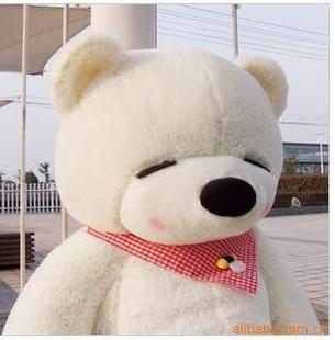 ตุ๊กตาหมีหลับ ตุ๊กตาตัวใหญ่ ขนาด 1.6 เมตร สีขาว