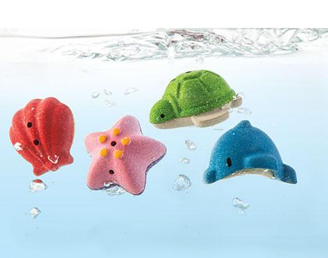 ของเล่นไม้ ของเล่นเด็ก ของเล่นเสริมพัฒนาการ Sea Life Bath Set (ส่งฟรี)